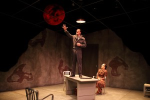 """Bradford Cover and Dee Pelletier in the HRTC world premiere of """"Under a Red Moon."""" (Photo by Scott J. Kimmins)"""