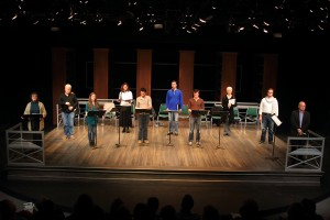 """The HRTC cast of the staged reading of """"Gingerbread Children."""" (Photo by Scott J. Kimmins)"""