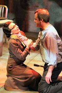 """Dee Pelletier and Bradford Cover in the HRTC world premiere of """"Under a Red Moon."""" (Photo by Scott J. Kimmins)"""