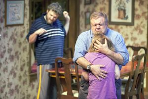 """The 2014 Mustard Seed Theatre company of """"Falling."""""""