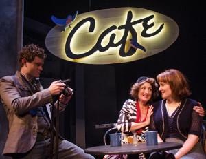 "Matt Holzfeind, Carol Kuykendall and Erin Noel Grennan in ""The Tin Woman."""