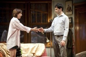 """Paige Davis and John Cariani in """"Dancing Lessons"""" at Barrington Stage Company. (Photo by Kevin Sprague)"""