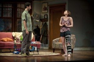 """John Cariani and Paige Davis in """"Dancing Lessons."""" (Photo by Kevin Sprague)"""