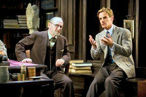 """Martin Rayner and Mark H. Dold in BSC's world premiere of """"Freud's Last Session."""" (Photo by Kevin Sprague)"""