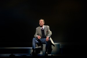 "Stephen D'Ambrose as Garth Williams in ""Alabama Story."" (Photo by Alex Weisman)"