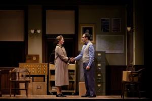 "Greta Lambert and Seth Andrew Bridges in ""Alabama Story"" at Pioneer Theatre Company. (Photo by Alex Weisman)"