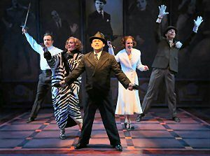"The company of ""Cagney"" at York Theatre Company's Off-Broadway home. (Photo by Carol Rosegg)"