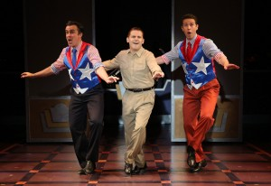 "Josh Walden, Robert Creighton and Jeremy Benton in ""Cagney."" (Photo by Carol Rosegg)"