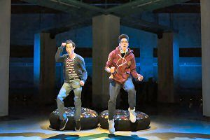 "Will Connolly and George Salazar in ""Be More Chill."" (Photo by T. Charles Erickson)"