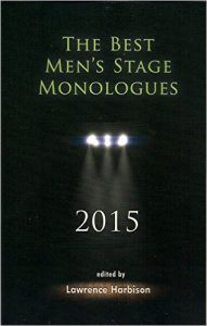 Cover art for the new collection of men's stage monologues.