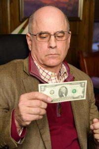 "Mark Zimmerman of ""Two Dollar Bill."" (Photo by Alex Weisman)"