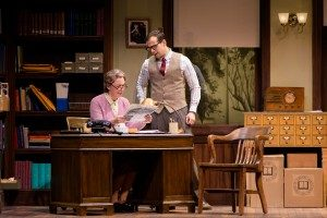 "Greta Lambert and Seth Andrew Bridges in ""Alabama Story"" at Pioneer Theatre Company. (Photo by Alex Weisman)"