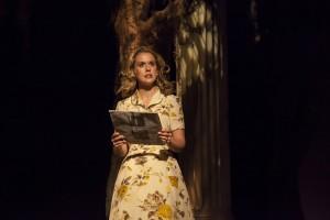 """Rachel Moulton in FST's """"Alabama Story."""" (Photo by Matthew Holler)"""