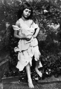Lewis Carroll's 1858 photography of Alice Liddell.