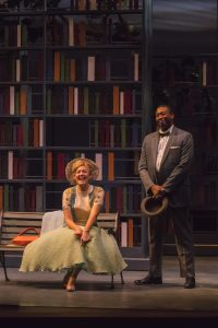 "Katherine Keberlein and Byron Glenn Willis in ""Alabama Story"" at Peninsula Players."