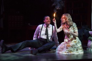 Chris White and Rachel Moulton in Florida Studio Theatre's staging. (Photo by Matthew Holler)