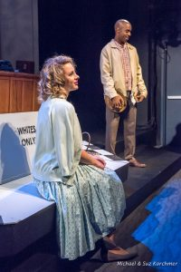 Samantha Able as Lily and Chauncy Thomas as Joshua in the Wellfleet Harbor Actors Theatre staging.