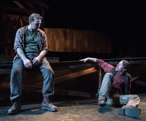 """Ted Koch and Todd Lawson in the world premiere of Jeff Talbott's """"The Gravedigger's Lullaby."""" (Photo by Marielle Solan)"""