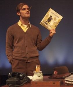 """Andrew Papa as Garth Williams in the Detroit premiere of """"Alabama Story"""" in fall 2016."""
