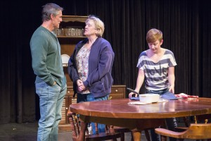 "Dean Biasucci, Nora Chester and Corinne Landy in ""Hollywood, Nebraska"" at Wyoming Theater Festival."